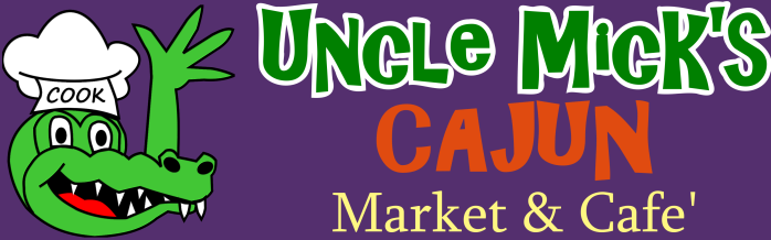 Uncle Mick's logo - horizontal with purple background - PNG format
