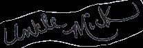 Uncle Mick signature